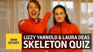 Winter Olympics: Team GB heroes Lizzy Yarnold & Laura Deas take our skeleton quiz - BBC Sport