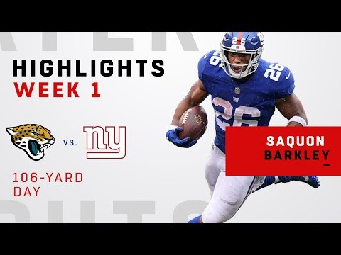 Saquon Barkley Rushes for 106 Yards in NFL Debut