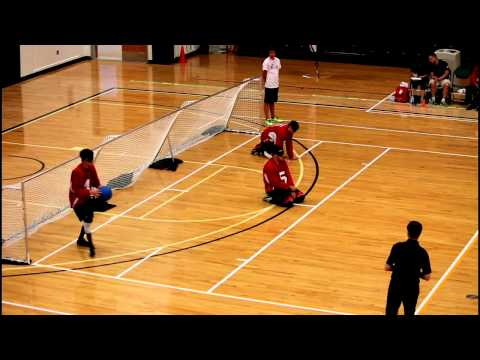 IBSA World Youth Goalball Championship 2015-5th place game-Korea vs Canada 1st Half