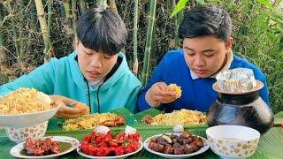 MUTTON, PANEER, FISH & CHICKEN DUM BIRYANI, GLAZED PORK MUKBANG | Biryani Hub | Meitei Mukbang