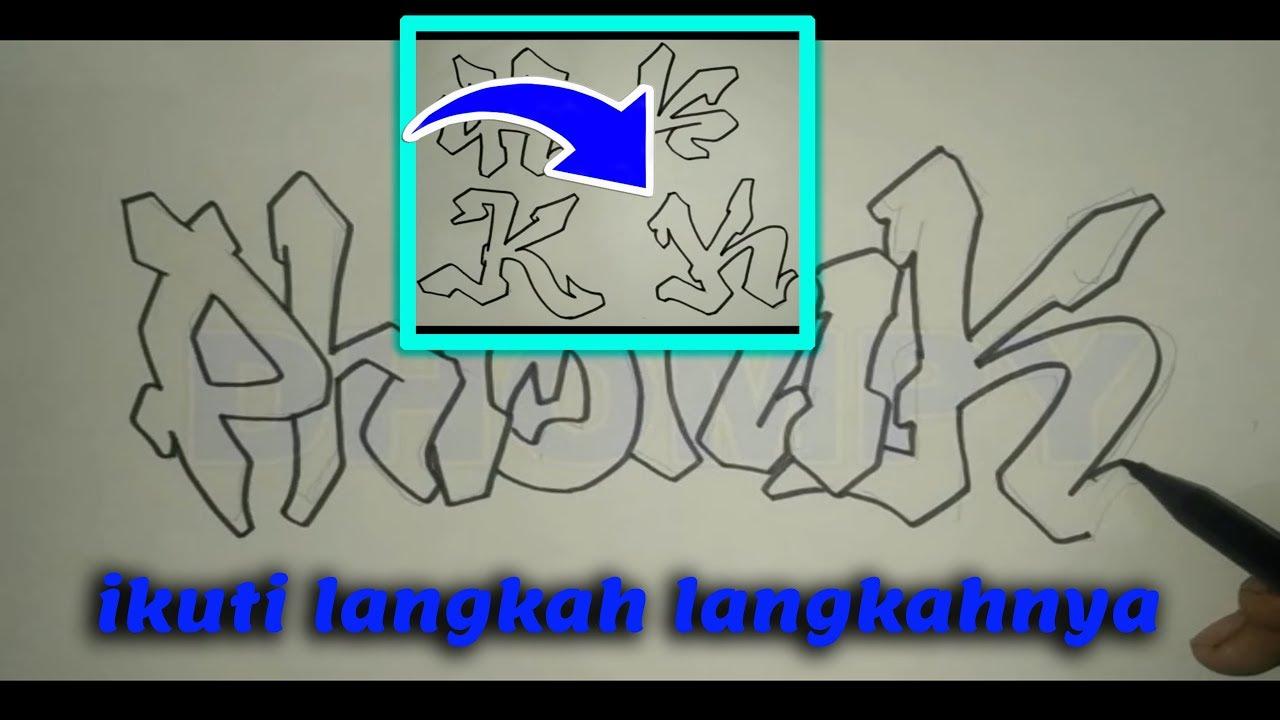 Tutorial cara membuat graffiti dengan mudah part 2 lihat deskripsi video abjadnya