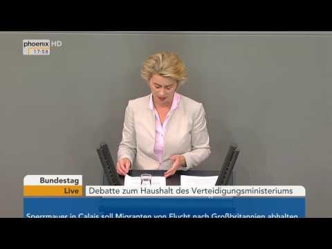 Haushalt 2017: Rede Ursula von der Leyen zum Haushalt des Verteidigungsministeriums am 07.09.2016