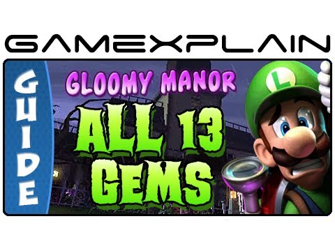 Luigi S Mansion 2 Dark Moon All 13 Gems In Gloomy Manor Guide Walkthrough