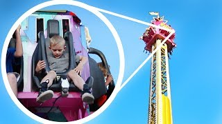 HE FREAKED OUT!! Carnival Rides in California