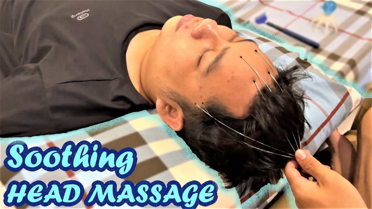 ASMR Relaxing Soothing Head and Back Massage with Tools