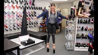 Review Trying to Walk In Pleaser Beyond 10 Inch High Heel Shoes thumbnail