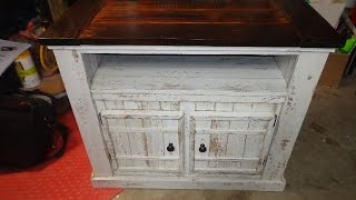 Farm Style TV Stand Cabinet