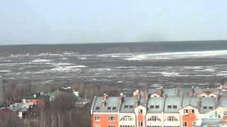 Чебоксары. Волга. Лед тронулся. 10 апреля 2016