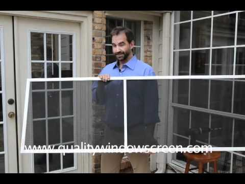 How To Remove A Window Screen Without Lift Tabs Doovi