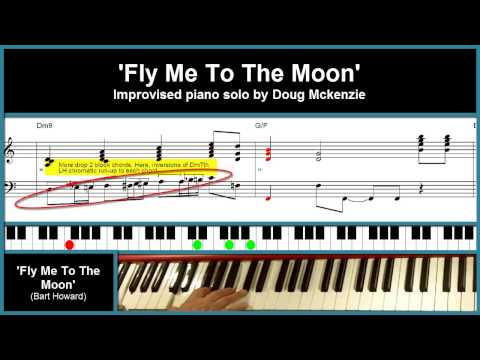 'Fly Me To The Moon' - jazz piano tutorial