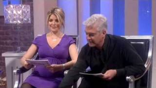 Holly Willoughby starts crying and walks out of ghost item! - This Morning 3rd March 2011