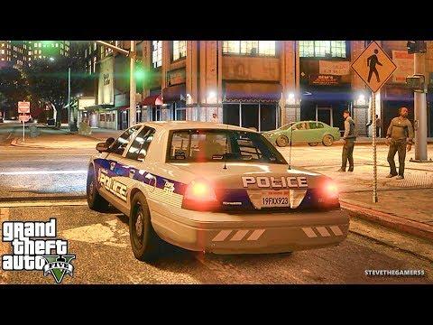 GTA 5 MODS LSPDFR 827 - CVPI NIGHT PATROL!!! (GTA 5 REAL LIFE PC MOD)