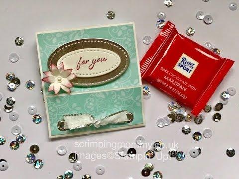 Craft fair idea matchbook chocolate holder