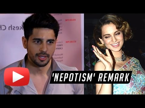 Sidharth Malhotra SLAMS Kangana Ranaut, REACTS On Nepotism