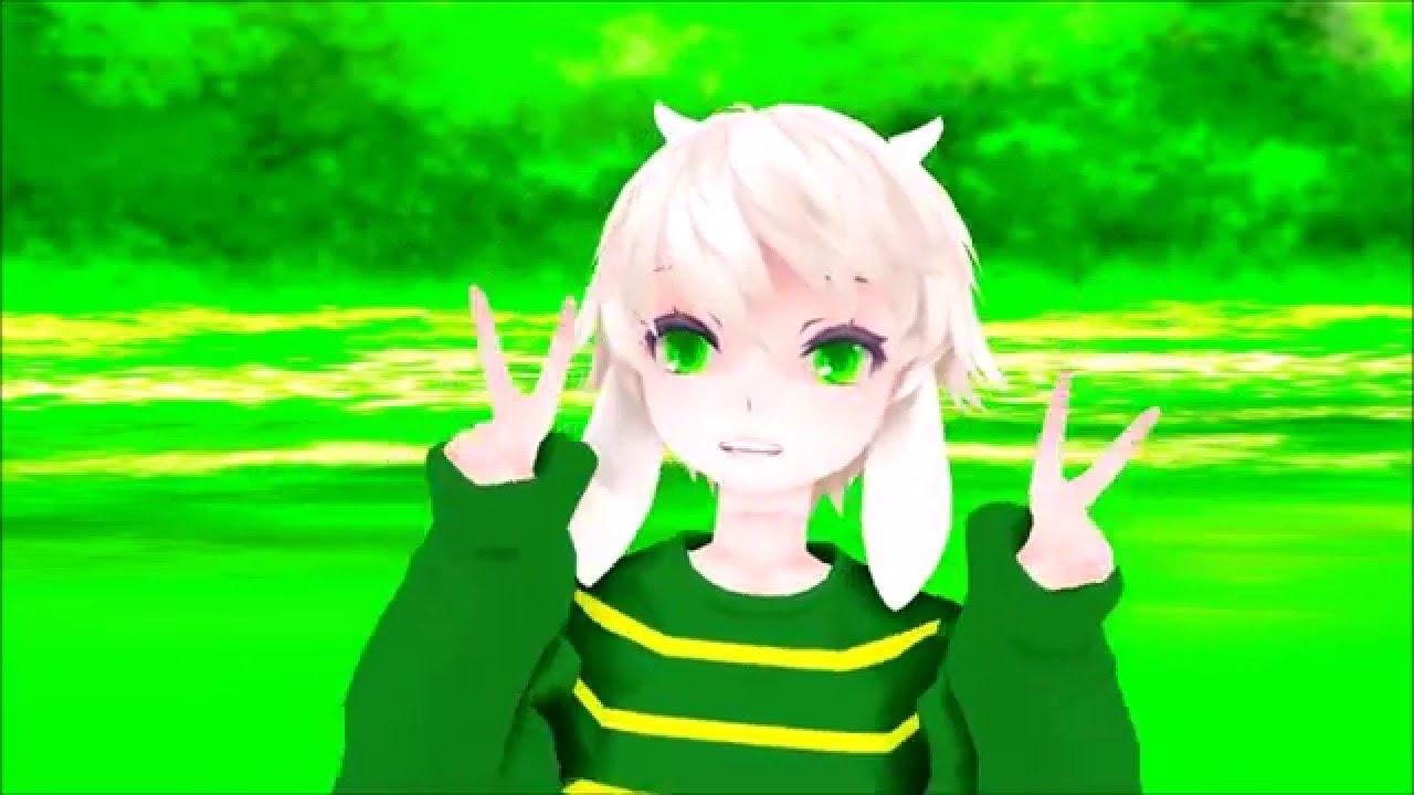 【mmd X Undertale】『gwiyomi』 Child Asriel Youtube