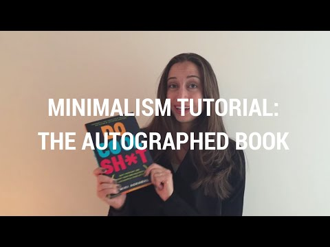 Minimalism Tutorial 26: The Autographed Book - Kacy Paide Organizer