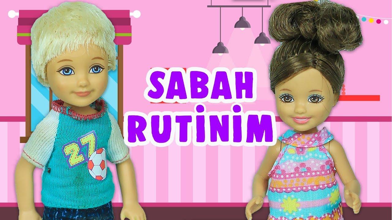 Barbie ve Ailesi Bölüm 203 | Sabah Rutini | Çizgi film tadında evcilik oyunları
