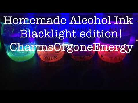 Alcohol Ink Blacklight Edition Homemade Diy Charmsorgoneenergy How