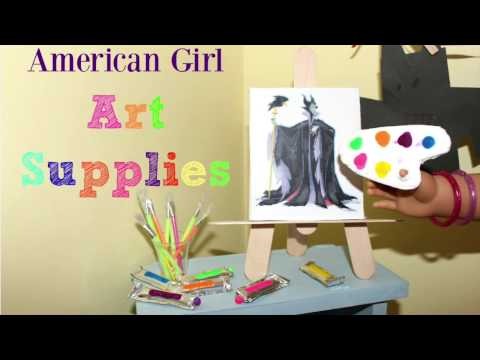 How to Make American Girl Art Supplies