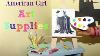 How to Make American Girl Doll Art Supplies