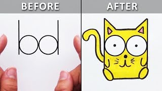Great Drawing Tricks & Doodle Ideas for Beginners   DIY Life Hacks & More by Blossom