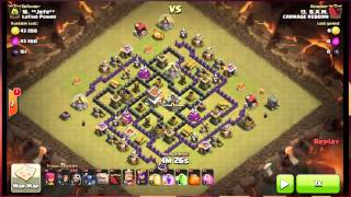 Clash of Clans : War Attack Strategy Part-34 | 3 star attack strategy | Clan Wars |