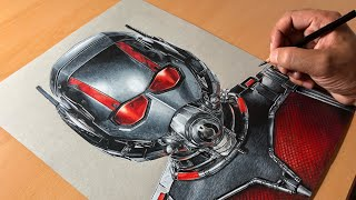 Drawing Ant-Man - Marvel's Antman and the Wasp - Timelapse | Artology