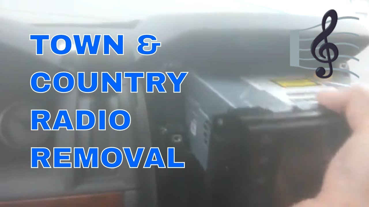 chrysler town country double din radio removal step by step rh youtube com 2010 Town and Country 2008 Chrysler Town and Country Interior
