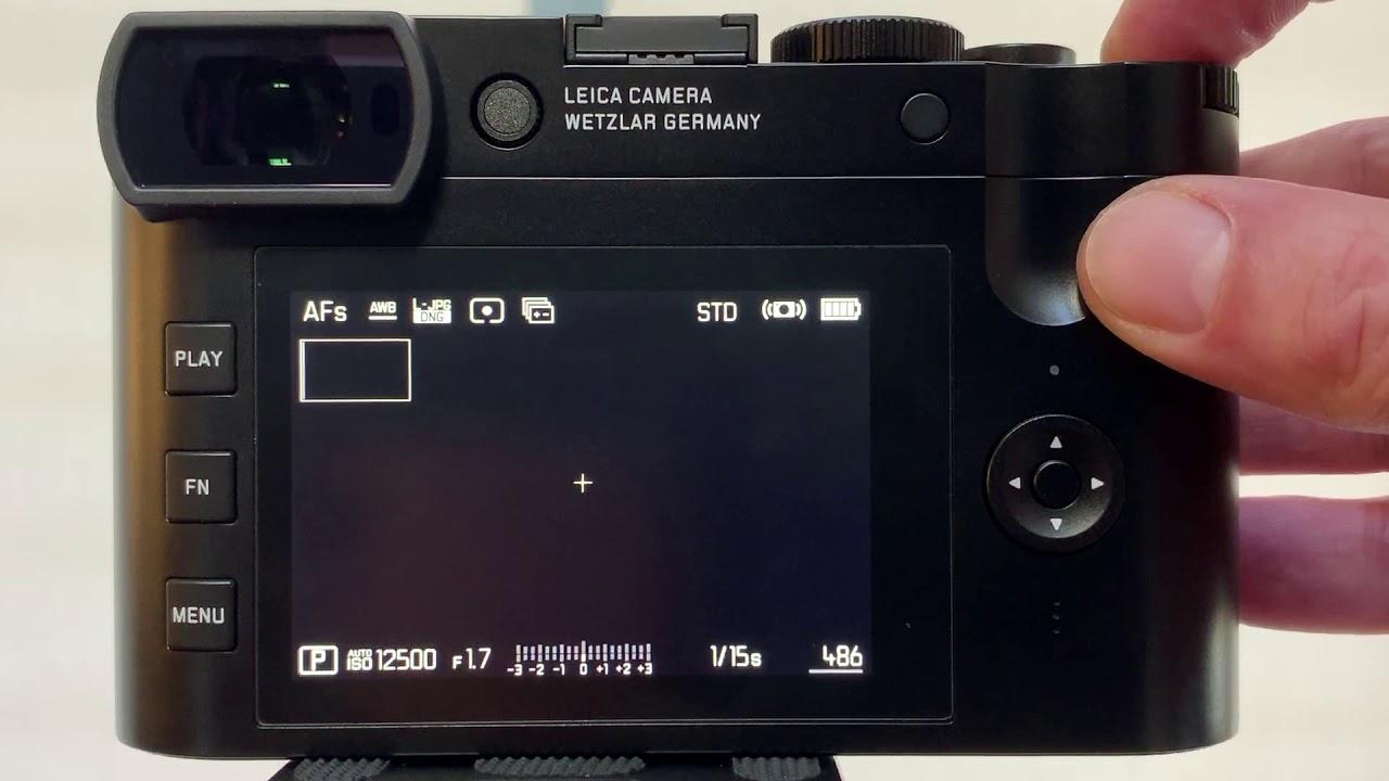Leica Q2: Customizing Menu and Buttons