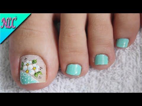 Diseño De Uñas Flores Para Pies Muy Fácil Flowers Nail