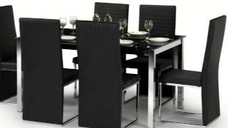 Tempo 160cm Glass Top Dining Table With 6 Chairs Movie