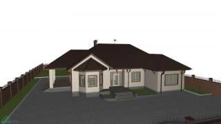Проект большого одноэтажного дома «Семейный»   C-160-ТП(, 2016-10-27T13:08:22.000Z)