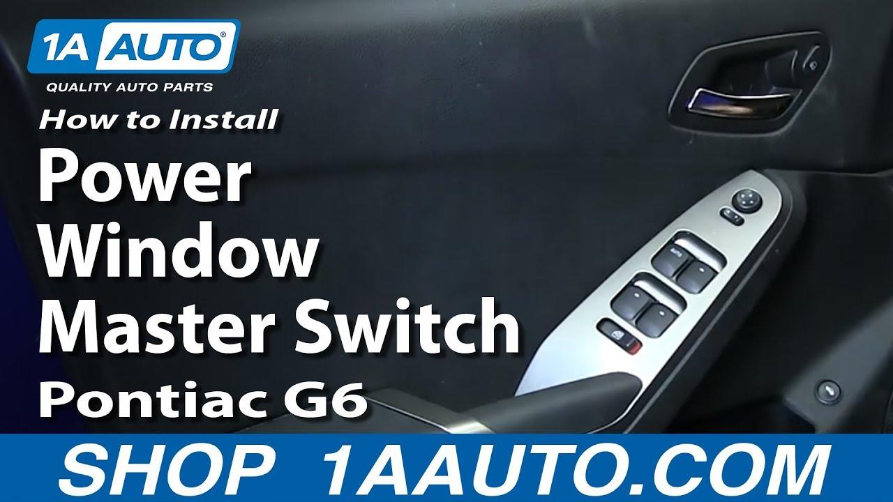 how to replace master power window switch 05 08 pontiac g6 [ 1280 x 720 Pixel ]