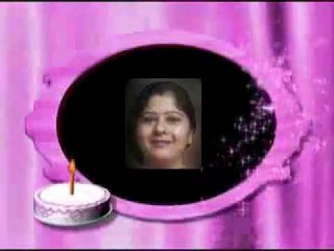 happy birthday video with your name and picture