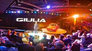 Alfa Romeo Giulia, present by Andrea Bocelli