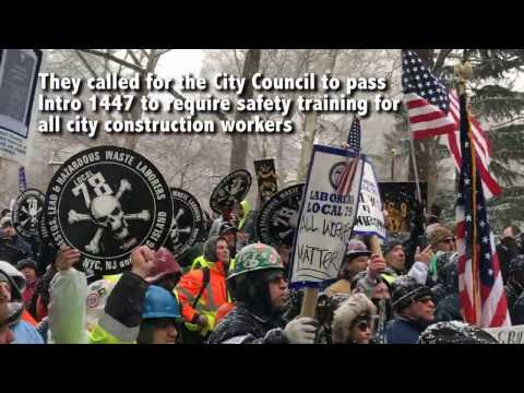 NYC Construction Workers Demand Safety Training for ALL Workers