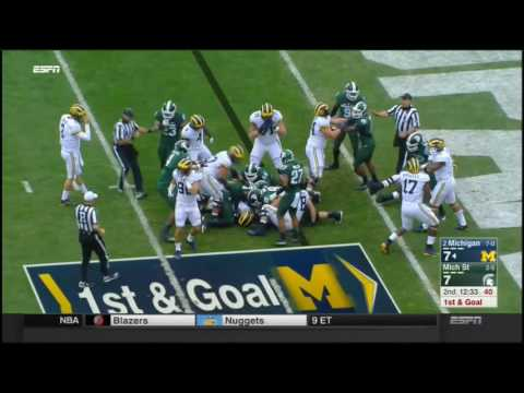 Michigan Wolverines at Michigan State Spartans in 30 Minutes - 10/29/16
