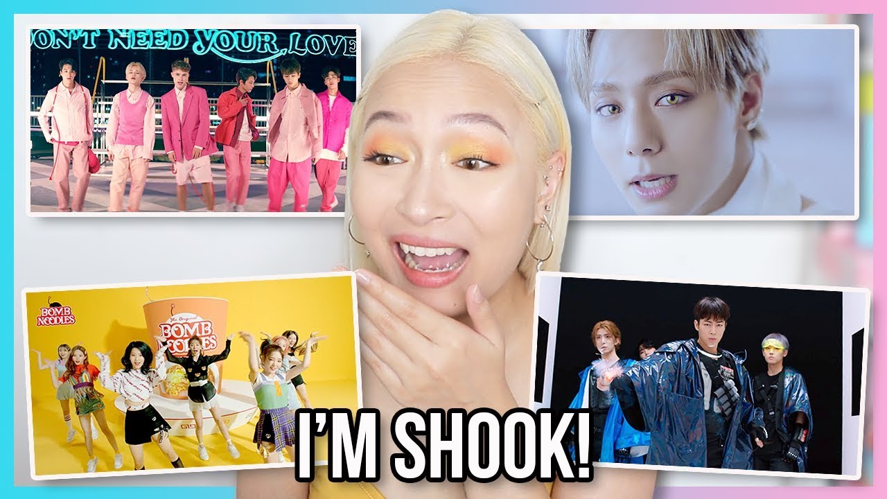NCT DREAM X HRVY, FROMIS_9, ONEUS AND SF9 MV REACTION: CATCHING UP ON KPOP