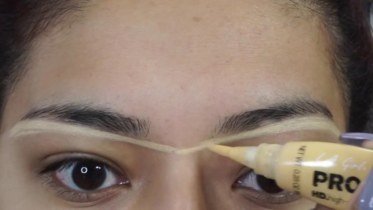 Beauty Hack For Eyebrows Using La Girl Products Alexisjayda Youtube