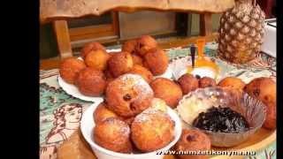 Túrófánk-egyszerű és Gyors-cottage Cheese Fritters-quark Krapfen
