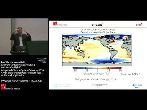 Klimaforschung in Hamburg: Integrated Climate System Sciences (ICSS)