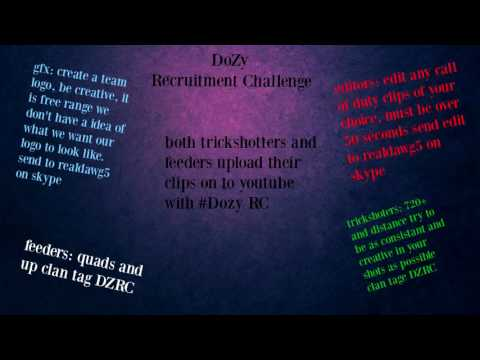 DoZy Recuitment Challenge 2016 NEW COD RC