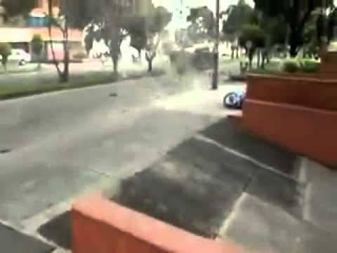 Accidente  choque de dos autos