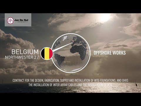 Offshore Wind Farm Northwester 2 in Belgium