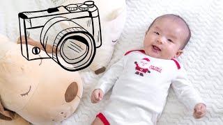 Bé Ori tròn 2 tháng tuổi - Tự chụp hình em bé tại nhà