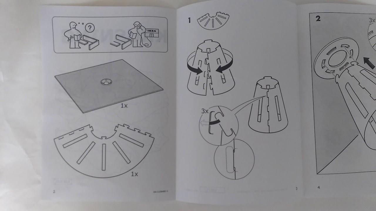 Ikea Krusning Light Shade Instruction Manual Handyman Chorlton