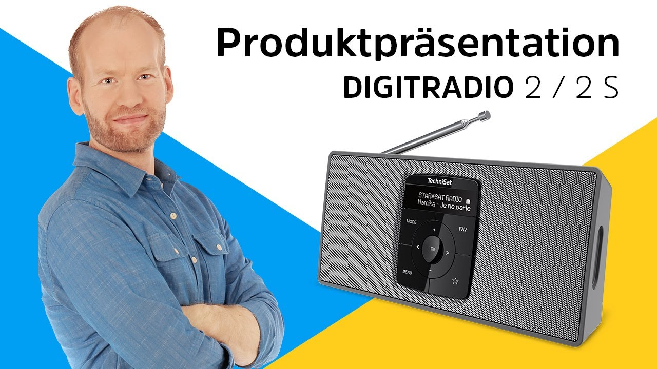 Video: DIGITRADIO 2 / 2 S | Stereo DAB+ Radio in edler Aluminium-Optik. | TechniSat