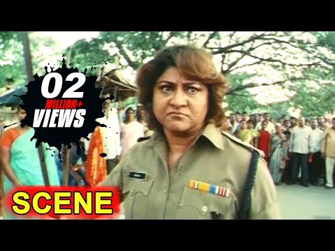 In Climax Car Chasing Scene ||  Kiran Bedi Movie || Malasri, Ashish Vidyarthi