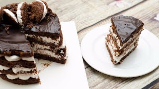 WHOOPIE PIE CAKE l EGGLESS & WITHOUT OVEN