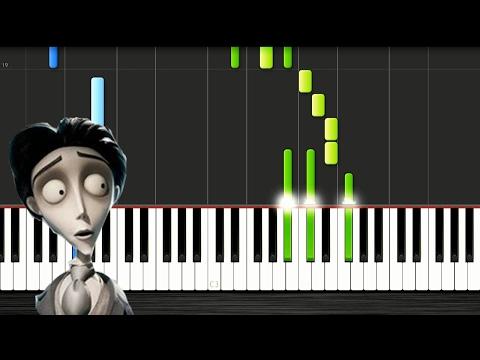 Victor's Piano Solo (Corpse Bride) - SLOW Piano Tutorial 50% Speed